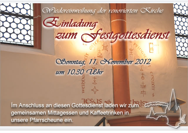kirchengemeinde niederasphe - einladung zum festgottesdienst am 11, Einladungen